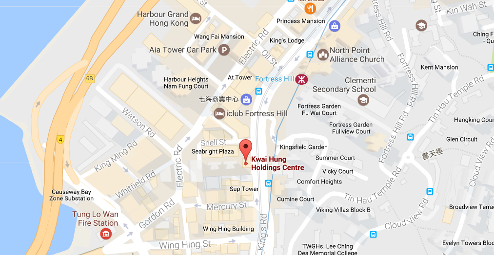 Google map of North Point Hong Kong